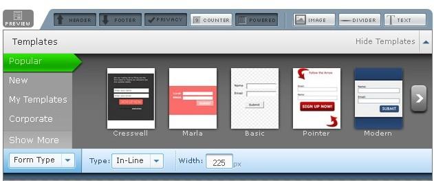 design form aweber