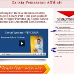 Webinar Belajar Affiliate Bersama Pengasas Ashadee