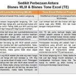 Perbezaan Antara Bisnes MLM Dengan Bisnes Sim Kad Tone Excel