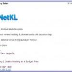 Sambung Lagi Kontrak Domain dan Hosting Dengan NetKL