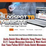 Mudahnya Bina Web Promosi Tone Excel Dengan Blogspot
