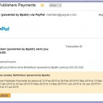 Bayaran komisyen Pay Per Click Bidvertiser Ogos 2015