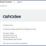 Komisyen Affiliate Ashadee November 2015