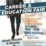 Pameran Kerjaya & Pendidikan berunsurkan TVET; Youth Education, Employment and Skills Exhibition (YESCC)