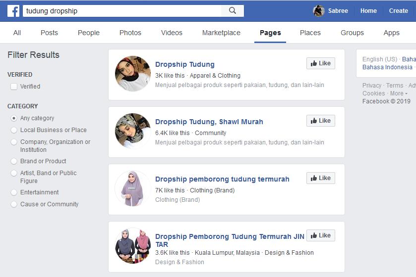 pembekal sistem dropship di facebook