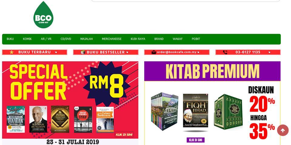 laman web bookcafe